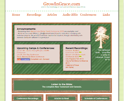 Screenshot of Old GrowInGrace.com